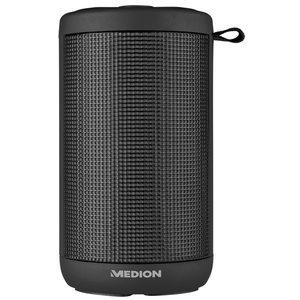 MEDION LIFE® E61102 Bluetooth Lautsprecher mit LED Lichtshow, 20 Watt Musikausgangsleistung, Freisprechfuntkion, 20 LED´s, 7 Lichtmodi