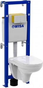 Wisa Vorwandelement Komplett-Set All in One ,  V&B Wand-WC Spülrandlos weiß,  Softclose WC-Sitz weiß,