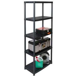 Haushaltsregal PLATIN - schwarz - 170 cm hoch