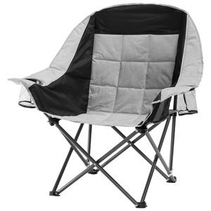 Campingstuhl Komfort XXL (grau-schwarz)
