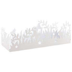 Kerzentablett Frühling (40x13, weiß)