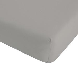 Jersey-Spannbettlaken Exklusiv (90-100x190-220, zement)