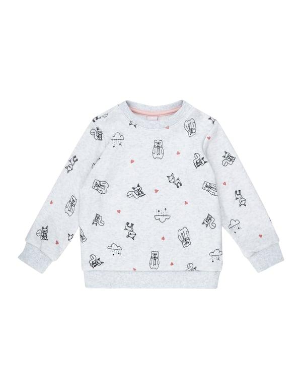 Baby Sweatshirt mit Allover-Print