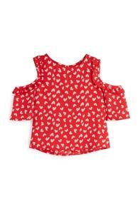 Bluse mit Herzmuster (kleine Mädchen)