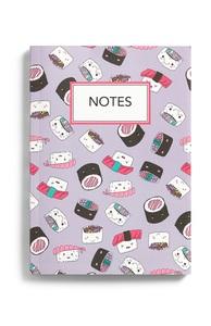 Notizbuch mit Sushi-Print im A5-Format