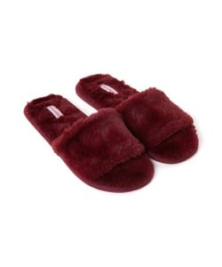 Hunkemöller Slippers Fur Top Lady Rot