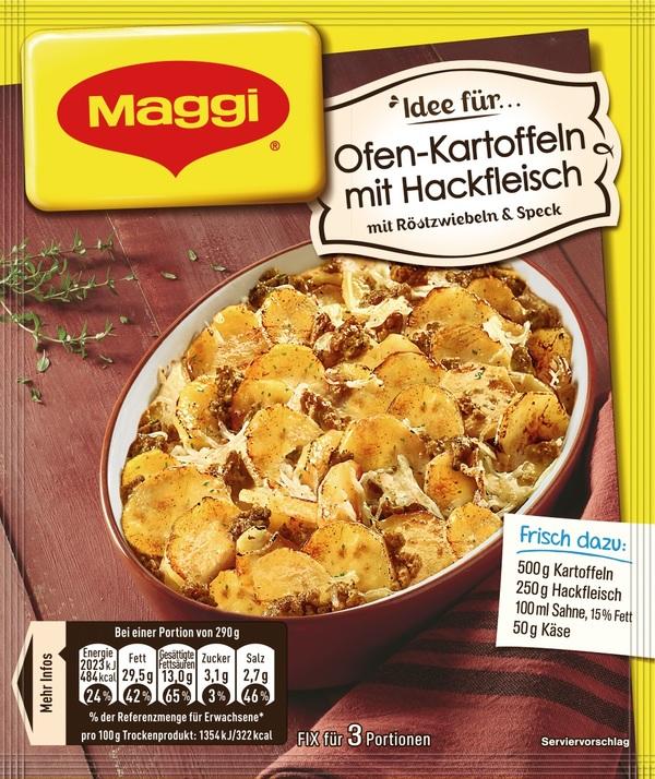 Maggi Idee für Ofen-Kartoffeln mit Hackfleisch 34 g