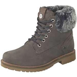 Wrangler Creek Alaska Fur Schnür Boots Damen grau