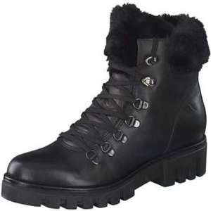 Fiocco Schnür Boots Damen schwarz