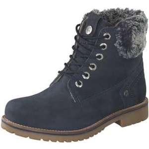 Wrangler Creek Alaska Fur Schnür Boots Damen blau
