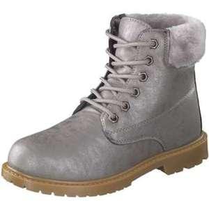 Inspired Shoes Schnür Boots Damen silber