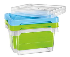 EASY HOME®  Drehstapelbox, 1 Stück oder Deckel für Drehstapelbox, 2 Stück