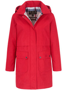 Wasserfeste Jacke abnehmbarer Kapuze Barbour rot