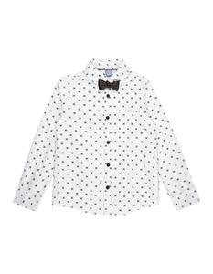 Jungen Hemd mit Allover-Muster und Fliege