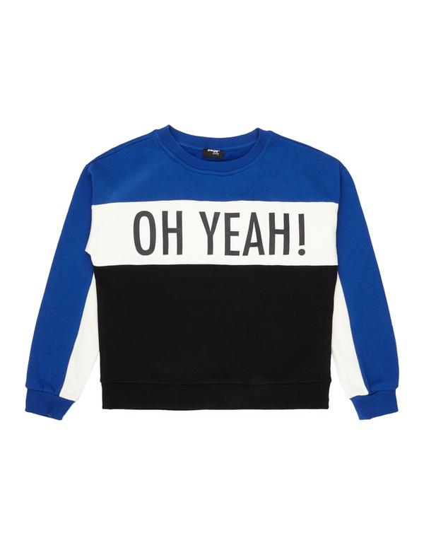 Mädchen Sweatshirt mit Message-Print