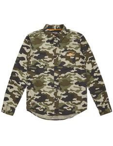 Jungen Hemd mit Camouflage-Muster und Prints