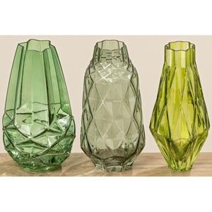 BOLTZE Facetten Vase MELOS Grün
