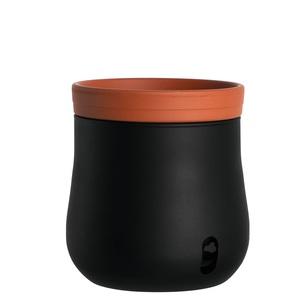 LEONARDO Blumentopf /Pflanztopf L mit Selbstbewässerung Schwarz/Terracotta
