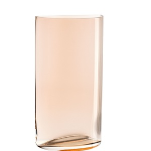 LEONARDO Vase H 34 CENTRO Halbkreisform Transparent Orange