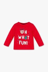 Baby Club         Baby-Weihnachts-Langarmshirt