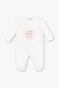 Baby Club         Baby-Schlafanzug - Bio-Baumwolle - gepunktet