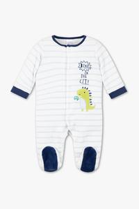 Baby Club         Baby-Schlafanzug - Bio-Baumwolle - gestreift