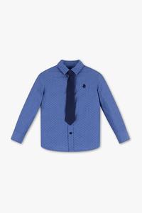 Palomino         Set - Hemd und Krawatte -  Bio-Baumwolle - gepunktet