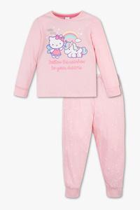 Hello Kitty - Pyjama - Bio-Baumwolle - Glanz Effekt - 2 teilig