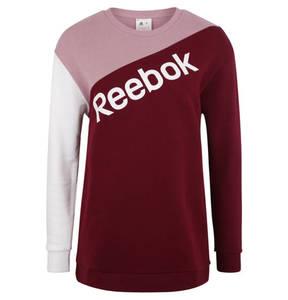 Reebok             Sweatshirt, Label-Print, Rundhalsausschnitt, für Damen