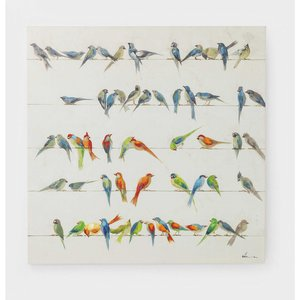 KARE Wandbild 100 x 100 cm   Birds Meeting