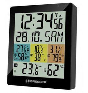 Bresser Thermometer »Temeo Hygro Quadro DLX für 4 Messorte gleichzeitig«