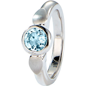 Viventy Damen Ring, 925er Silber mit Blautopas (beh.)