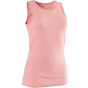 Tank-Top 500 Gym & Pilates Damen rosa meliert