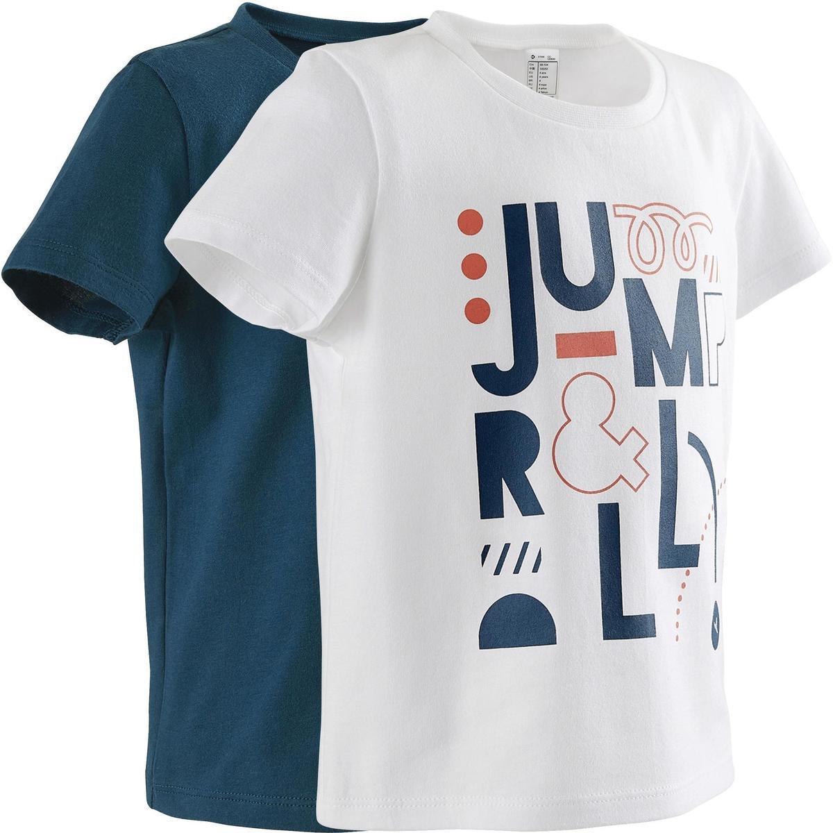 Bild 1 von T-Shirt 100 2er-Pack weiß/blau