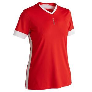 Fußballtrikot F500 Damen weiß/rot