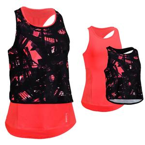 Top 3-in-1 FTA 520 Fitness/Ausdauertraining Damen koralle mit Print