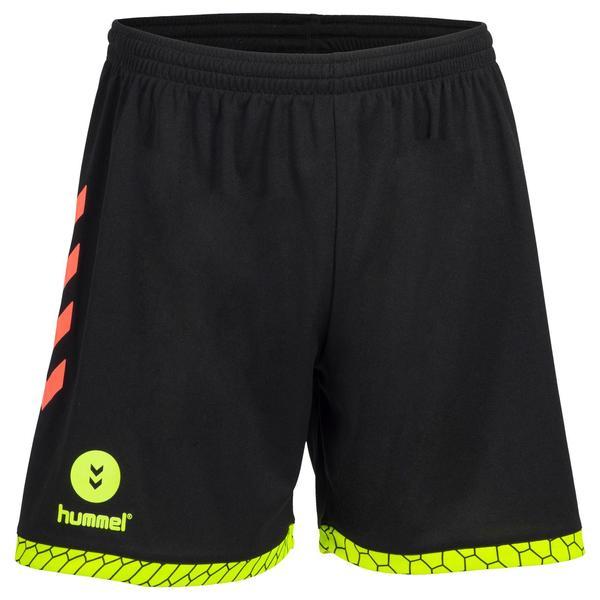 Handball-Shorts Herren schwarz/orange/gelb