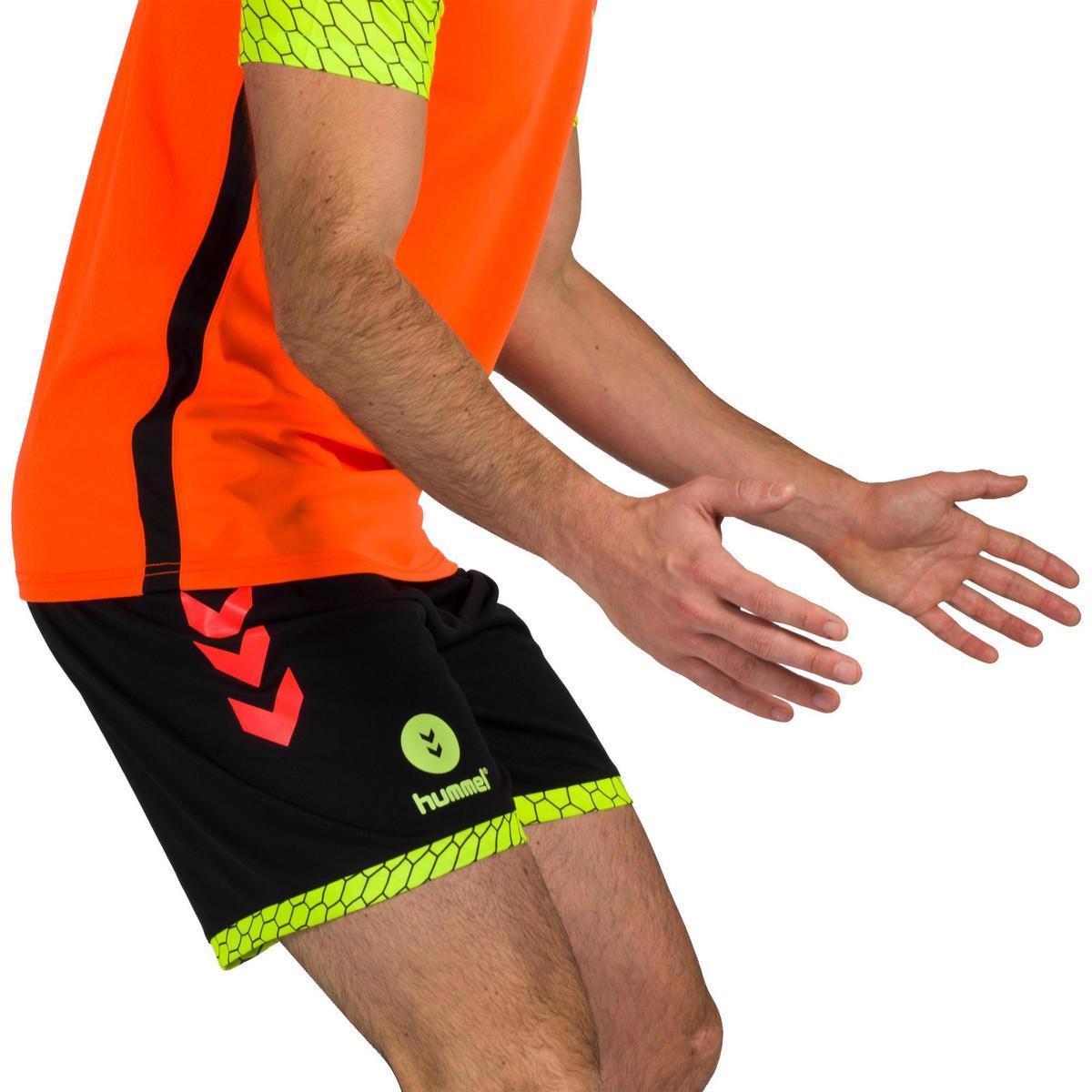 Bild 3 von Handball-Shorts Herren schwarz/orange/gelb