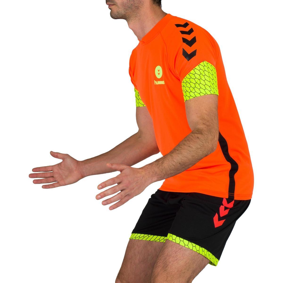 Bild 5 von Handball-Shorts Herren schwarz/orange/gelb