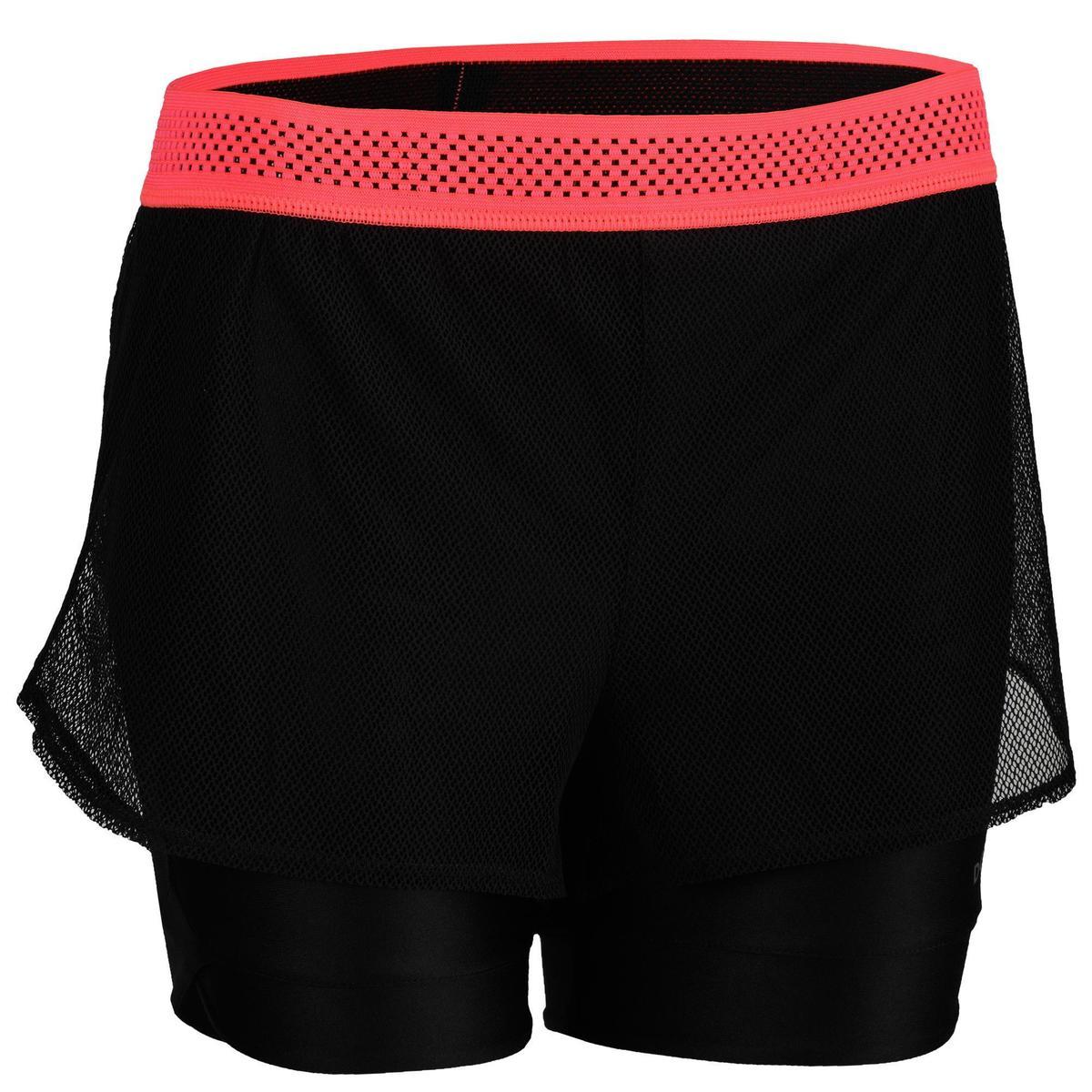 Bild 1 von Sporthose kurz FST 520 Fitness/Ausdauertraining Damen schwarz