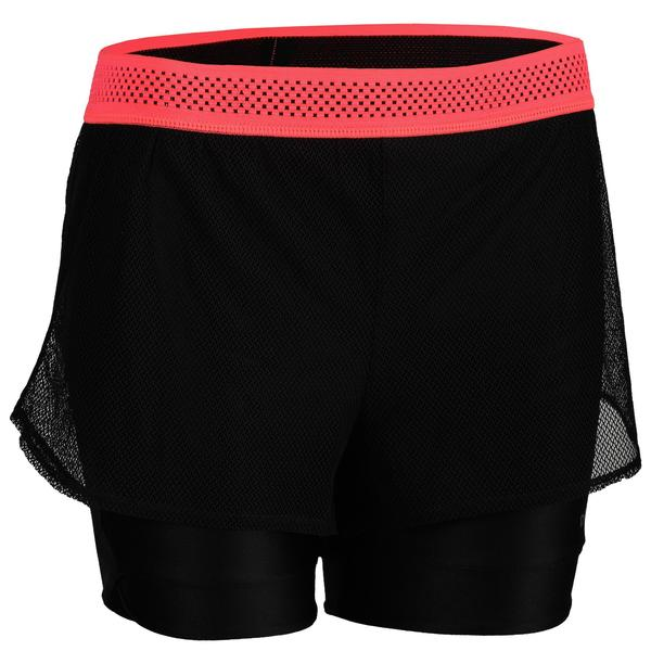 Sporthose kurz FST 520 Fitness/Ausdauertraining Damen schwarz