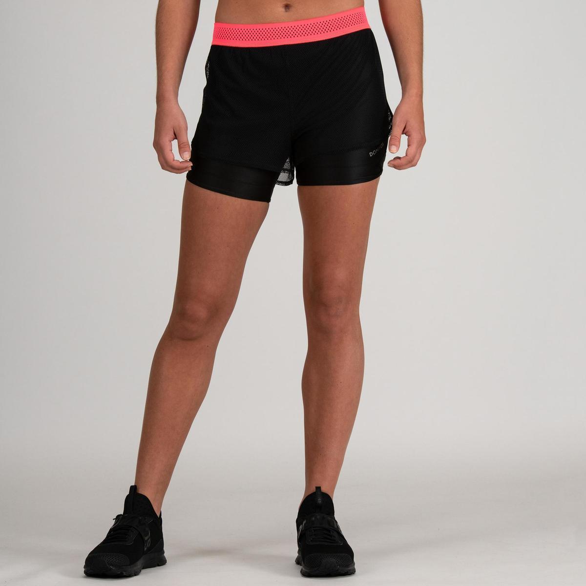 Bild 2 von Sporthose kurz FST 520 Fitness/Ausdauertraining Damen schwarz
