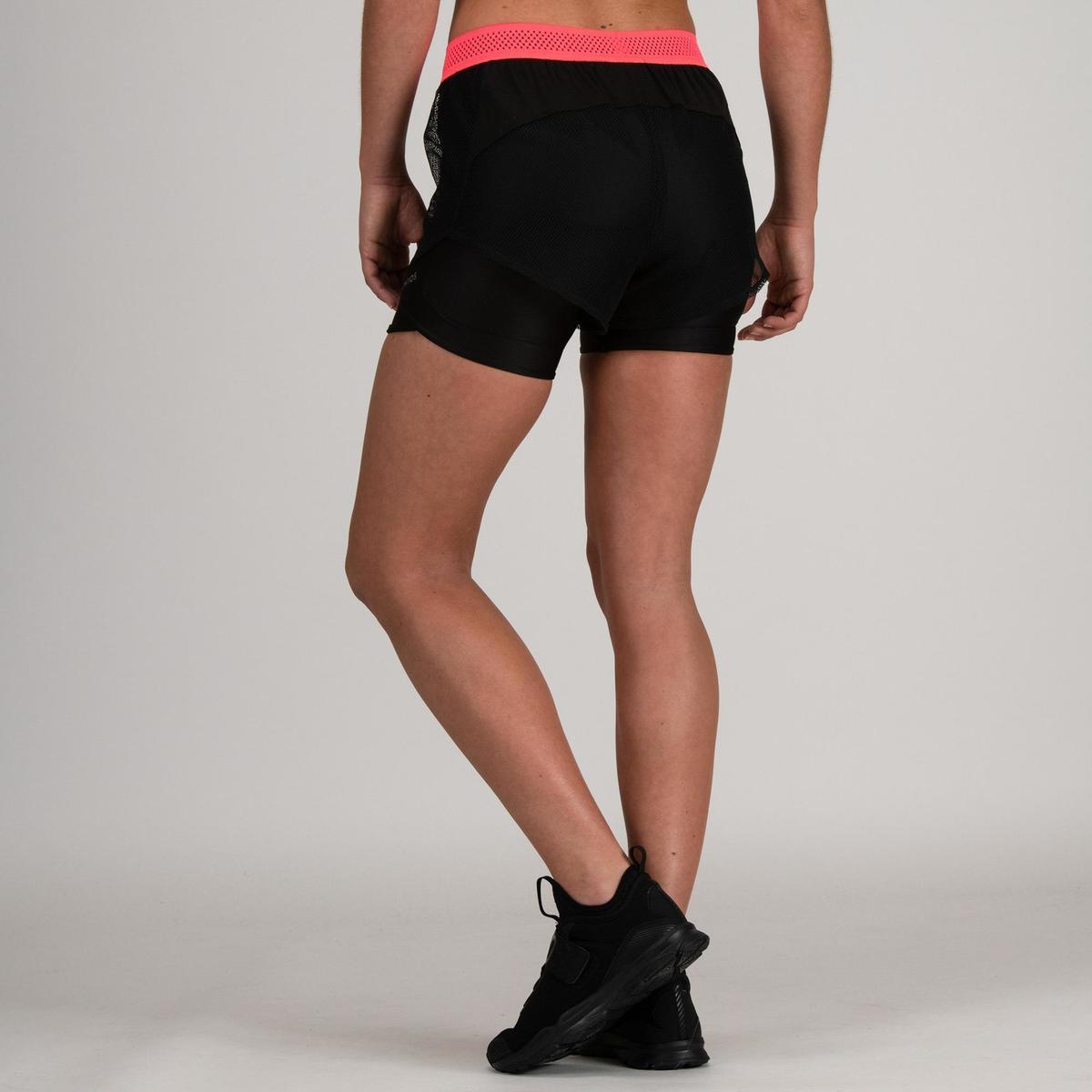 Bild 4 von Sporthose kurz FST 520 Fitness/Ausdauertraining Damen schwarz