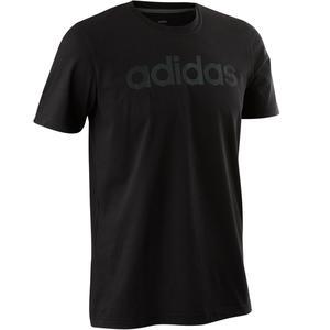 T-Shirt Decadio 500 Pilates sanfte Gymnastik Herren schwarz