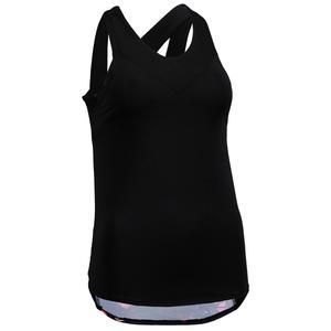 Top FTA 500 mit integriertem Bustier Cardio Fitness Damen schwarz mit Print