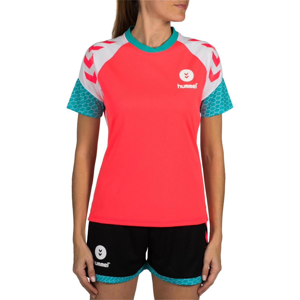 Bild 2 von Handballtrikot Damen rosa/weiß/blau/türkis