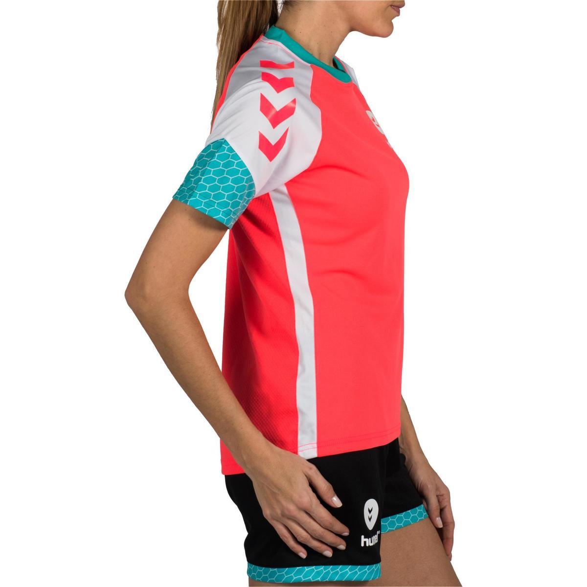 Bild 3 von Handballtrikot Damen rosa/weiß/blau/türkis