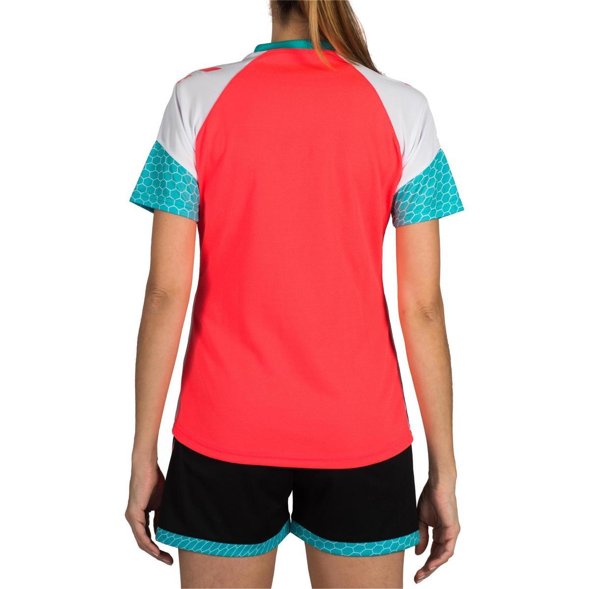 Bild 4 von Handballtrikot Damen rosa/weiß/blau/türkis