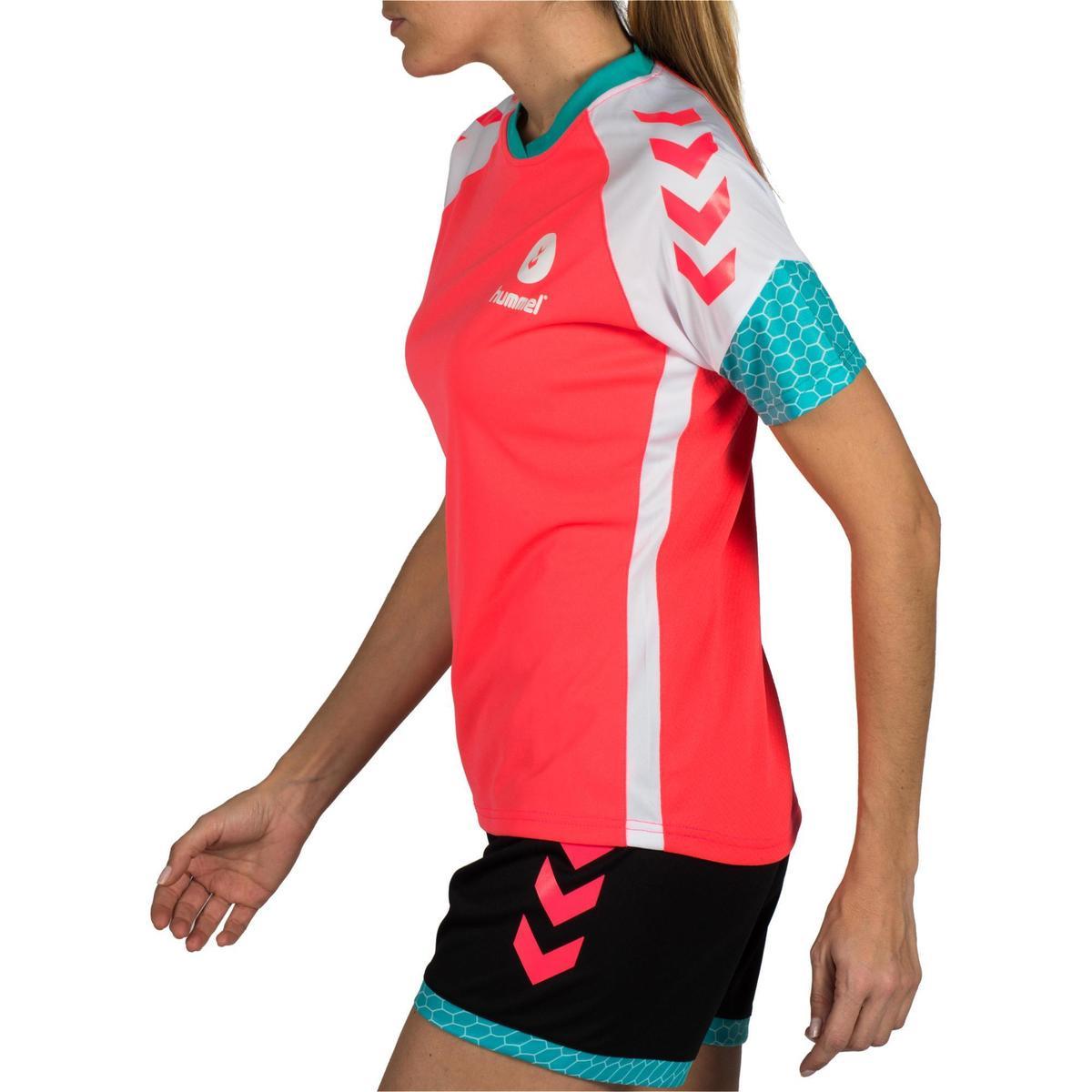 Bild 5 von Handballtrikot Damen rosa/weiß/blau/türkis