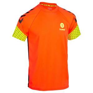 Handballtrikot Herren orange/gelb